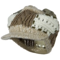 Newsboy - Natural Natural Fashion Knit Hat