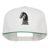 Embroidered Cap - White Chess Knight Embroidered Cap