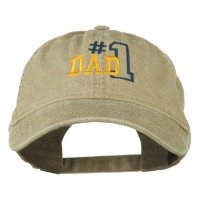 Embroidered Cap - Number 1 Dad Cotton Cap | Free Shipping | e4Hats.com