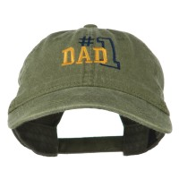 Embroidered Cap - Olive Green Number 1 Dad Cotton Cap