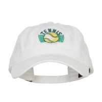 Embroidered Cap - Tennis Ball Patched Cap | Free Shipping | e4Hats.com
