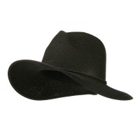 Fedora - Black Ribbon Straw Panama Hat