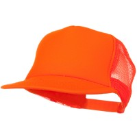 Ball Cap - Orange Neon5 Panel Mesh Cap