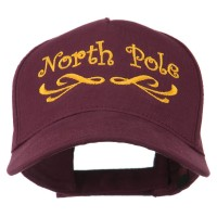 Embroidered Cap - Maroon North Pole Embroidered Cap