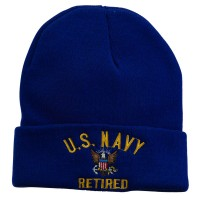 Beanie - US Navy Retired Embroidered Beanie | Free Shipping | e4Hats.com