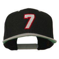Embroidered Cap - Number 7 Embroidered Cap | Free Shipping | e4Hats.com