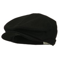 Ivy - Black Big Size Men's Wool Blend Ivy Cap