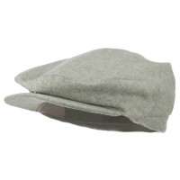 Ivy - Grey Plaid Men's Wool Blend Ivy Cap