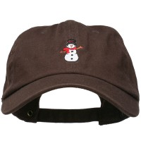 Embroidered Cap - Snowman Scarf Embroidered Cap