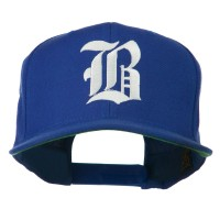 Embroidered Cap - Royal Old English B Flat Bill Cap