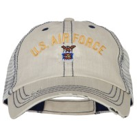 Embroidered Cap - Air Force Embroidery Mesh Cap