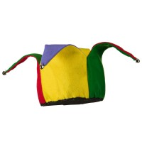 Costume - Multi Color Open Top Jester Hat