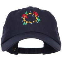 Embroidered Cap - Clock with Decorations Cap