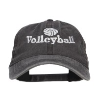Embroidered Cap - Volleyball Embroidered Washed | Free Shipping | e4Hats.com