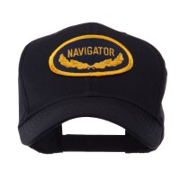 Embroidered Cap - Navigator Oak Leaf Oval Military Patch Cap | Coupon Free | e4Hats.com