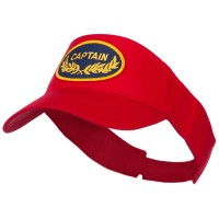 Visor - Red Captain Military Patched Sun Visor