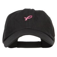Embroidered Cap - Mini Pink Ribbon Embroidered Cap