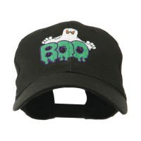 Embroidered Cap - Black Ghost Boo Embroidered Cap