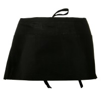 Towel, Apron - Black 3 Pocket Waist Apron