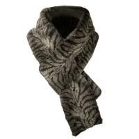 Scarf, Shawl - Grey Plush Animal Scarf