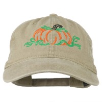 Embroidered Cap - Pumpkin Embroidered Cap