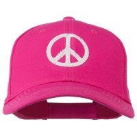 Embroidered Cap - Peace Symbol Embroidered Cotton Twill Cap | Free Shipping | e4Hats.com