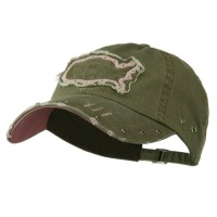 Embroidered Cap - Green Pink Pigment Dyed Washed Cap