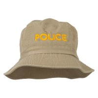 Bucket - Khaki Police Embroidered Bucket Hat