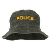 Bucket - Charcoal Police Embroidered Bucket Hat