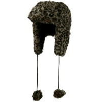 Trooper - Grey Woman's Animal Print Trooper Hat