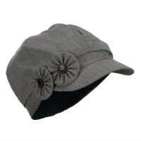 Newsboy - Women's Plaid Flowers Newsboy | Free Shipping | e4Hats.com