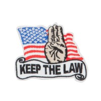 Patch - Red Black USA Keep the Law Patches