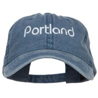 Embroidered Cap - Portland Embroidered Washed Cap