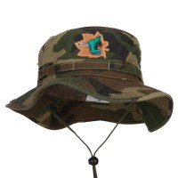 Bucket - Hiking Shoes Patched Hunting Hat | Free Shipping | e4Hats.com