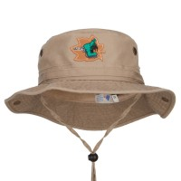 Bucket - Khaki Hiking Shoes Patched Hunting Hat