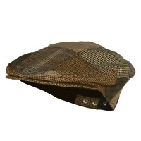 Ivy - Brown Men's Plaid Patchwork Ivy