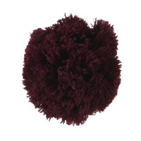 Pin , Badge - Wine Pom Pom Yarn Alligator Clip