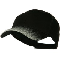 Ball Cap - Black Grey Plain Constructed Cap