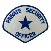 Patch - Royal Blue White Security Officer Stock Emblems