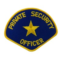 Patch - Gold Royal Security Officer Stock Emblems