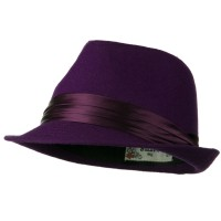 Fedora - Fedora with Pleated Satin Band | Free Shipping | e4Hats.com
