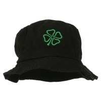 Bucket - Four Leaf Embroidered Bucket Hat | Free Shipping | e4Hats.com
