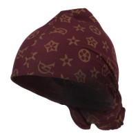 Wrap - Burgundy Gold Pattern Magic Long Wrap