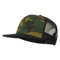 Ball Cap - Black Camo Camo Cotton Flat Bill Cap