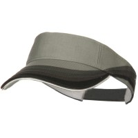 Visor - Grey White 3 Panel Wave Cotton Visor