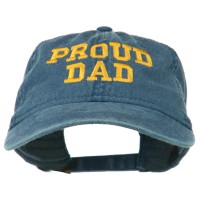 Embroidered Cap - Navy Proud Dad Embroidered Cap