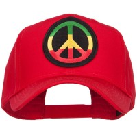 Embroidered Cap - Red Peace RGY Rasta Patched Cap