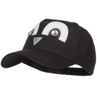 Ball Cap - Black Silver Cute 5 Panel Baseball Cap