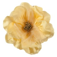 Pin , Badge - Yellow Q Flower Ribbon Pin
