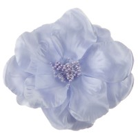 Pin , Badge - Lavender Q Flower Ribbon Pin